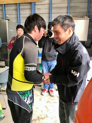 Hiro with members of sailing club
